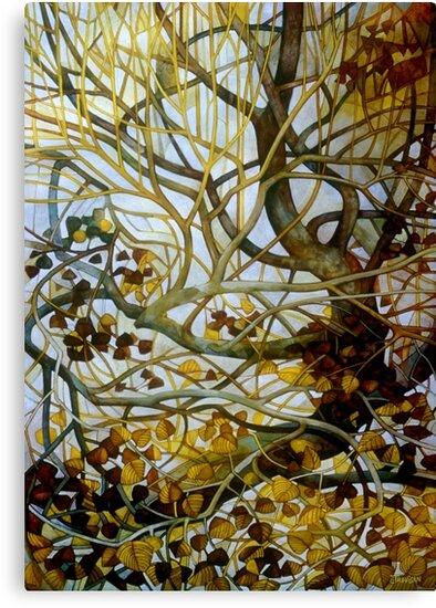 yellow leaves by elisabetta trevisan