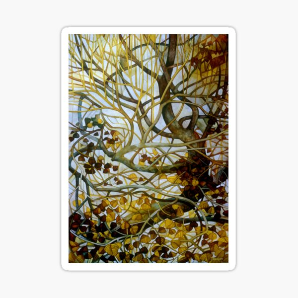 yellow leaves Sticker