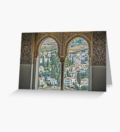 Nasrid View - The Alhambra - Granada - Spain Greeting Card