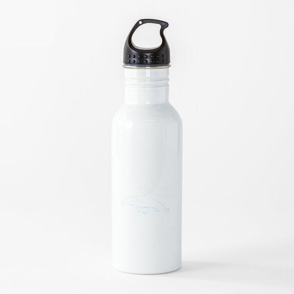 Extinction  Endangered  Vaquita Biology Sketched Blueprint Water Bottle