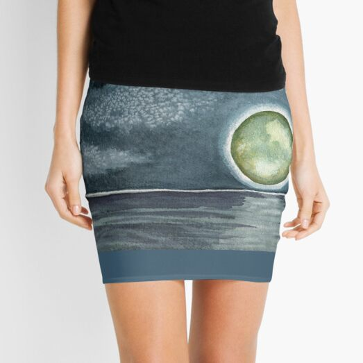 Cold Hearted Orb, watercolor  Mini Skirt