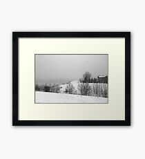 Snowstorm January 2014 Framed Print
