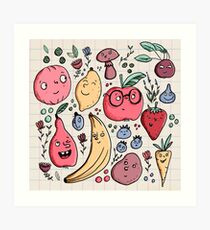 Fruits are friends Art Print