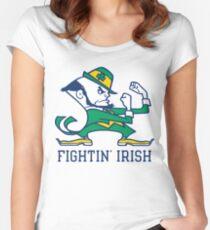 notre dame fighting irish Women's Fitted Scoop T-Shirt