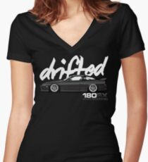 Drifted 180sx Tee - KH3 Edition by Drifted Women's Fitted V-Neck T-Shirt
