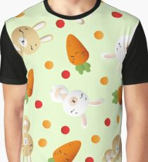 Bunnies and carrot Graphic T-Shirt