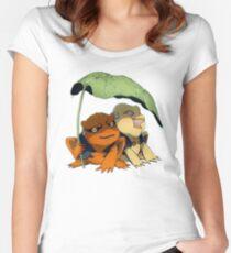 Chibi Gamakichi and Gamatatsu Women's Fitted Scoop T-Shirt
