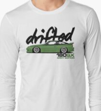 Drifted 180sx Tee - ARMY Edition by Drifted Long Sleeve T-Shirt