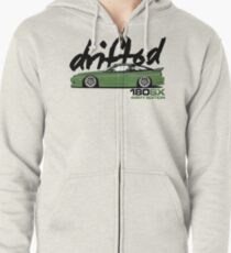 Drifted 180sx Tee - ARMY Edition by Drifted Zipped Hoodie