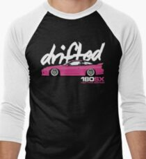 Drifted 180sx Tee - Hot Pink Edition by Drifted Men's Baseball ¾ T-Shirt
