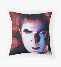 """Classic Movie Monsters """"DRACULA"""" Throw Pillow"""