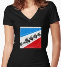 Tour (vinyl square version) Women's Fitted V-Neck T-Shirt