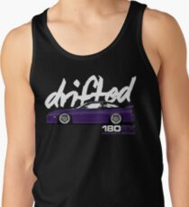 180sx Drift Tshirt - Midnight Edition by Drifted Tank Top