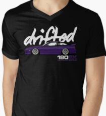180sx Drift Tshirt - Midnight Edition by Drifted Men's V-Neck T-Shirt
