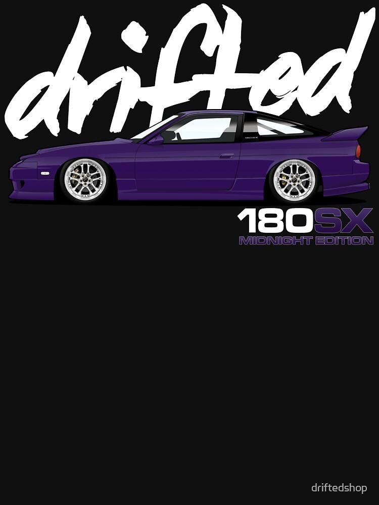 180sx Drift Tshirt - Midnight Edition by Drifted by driftedshop