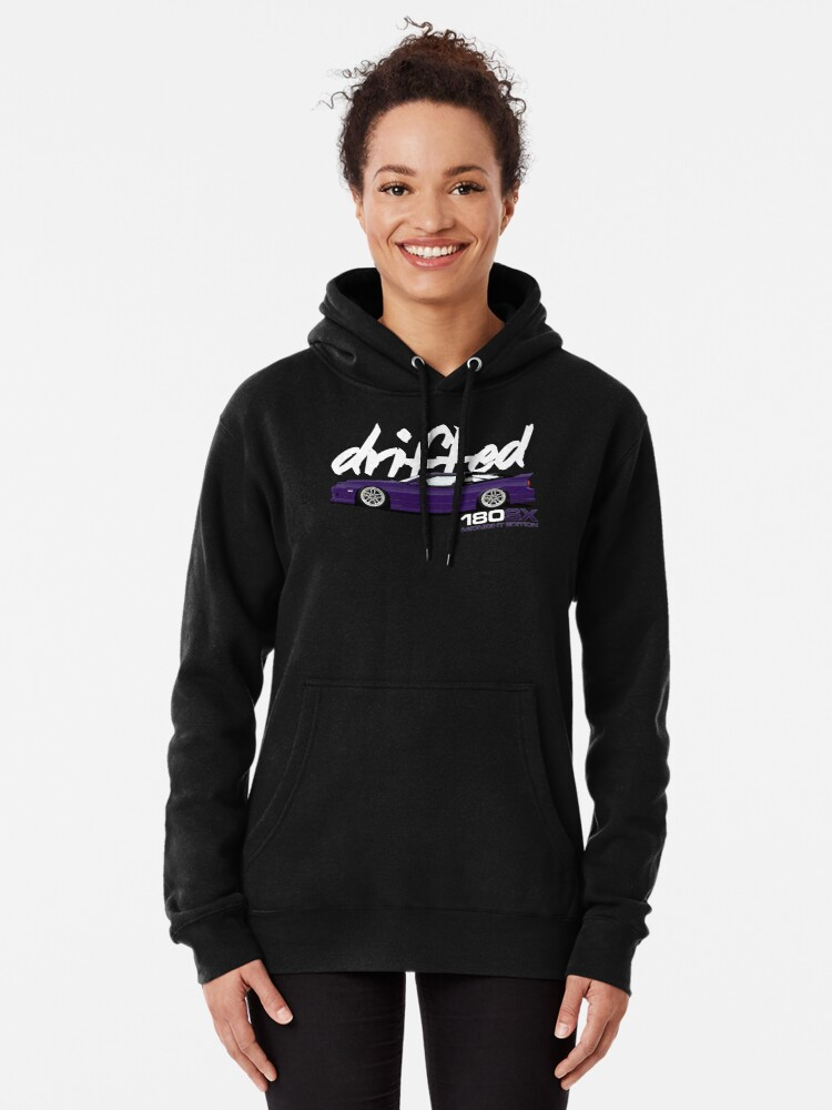 Alternate view of 180sx Drift Tshirt - Midnight Edition by Drifted Pullover Hoodie