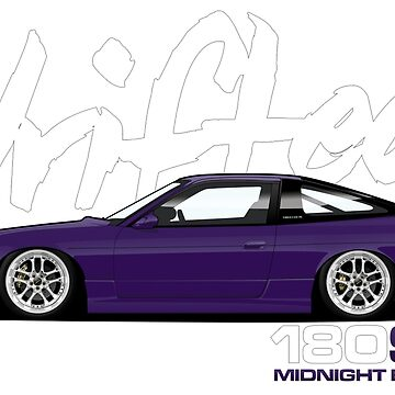180sx Drift Tshirt - Midnight Edition by Drifted by driftedshop