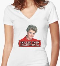 Angela Lansbury (Jessica Fletcher) Murder she wrote confession. I killed them all. Women's Fitted V-Neck T-Shirt