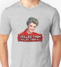 Angela Lansbury (Jessica Fletcher) Murder she wrote confession. I killed them all. Slim Fit T-Shirt