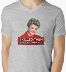 Angela Lansbury (Jessica Fletcher) Murder she wrote confession. I killed them all. Men's V-Neck T-Shirt