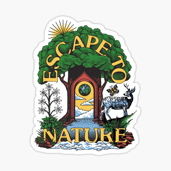 Escape To Nature Greta Van Fleet Parks Project Sticker