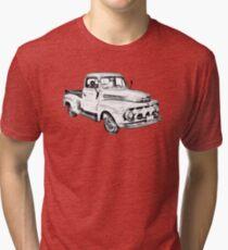 Camiseta de tejido mixto 1951 ford F-1 Pickup Truck Illustration