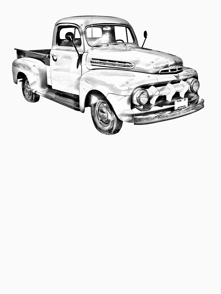 1951 Ford F 1 Pickup Truck Illustration Womens Fitted Scoop T