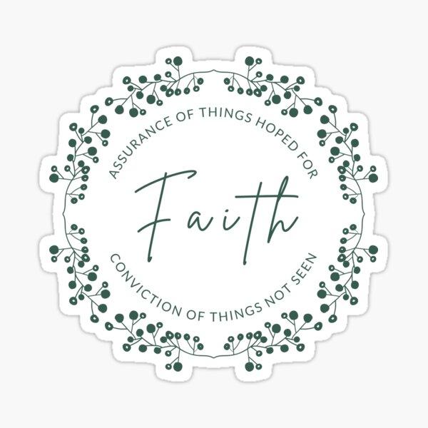 Assurance of Faith Christian Sticker