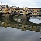 REFLECTIONS OF THE ARNO IN FLORENCE - ITALY -  VETRINA RB EXPLORE GIUGNO 2014 -EUROPE - WORLD by Guendalyn