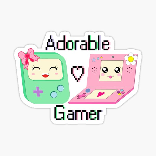 Adorable Gamer ~ Devices Sticker