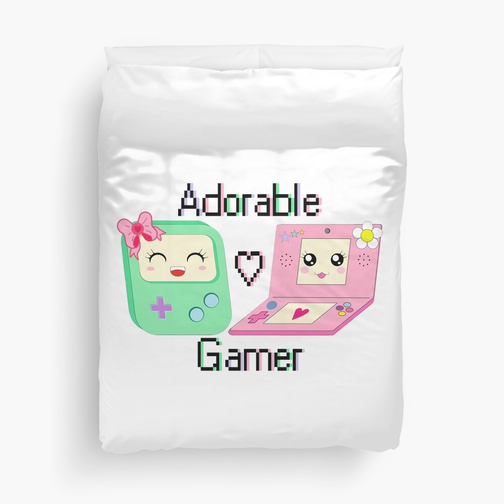 Adorable Gamer ~ Devices Duvet Cover