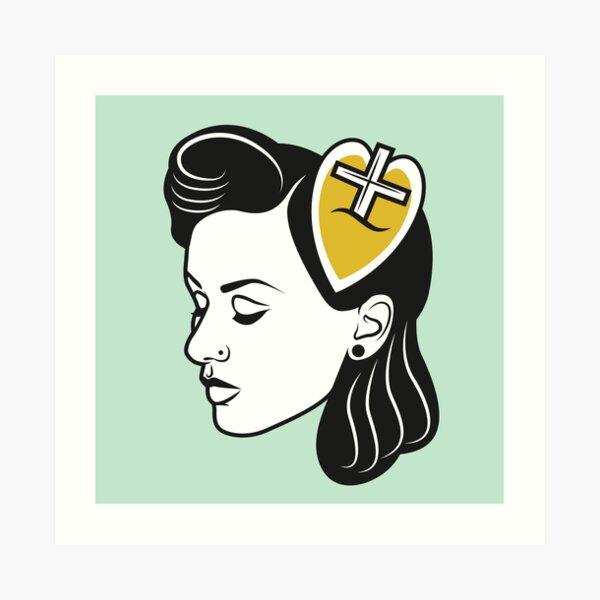 fresh from the barbershop: 50s girl Art Print