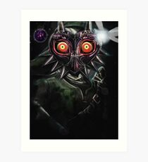 Legend of Zelda Majora's Mask Dark Link Art Print