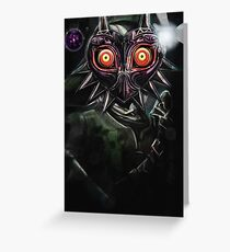 Legend of Zelda Majora's Mask Dark Link Greeting Card