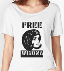 FREE WINONA!! Women's Relaxed Fit T-Shirt