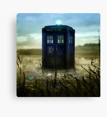 Blue Box - Splash Down Canvas Print