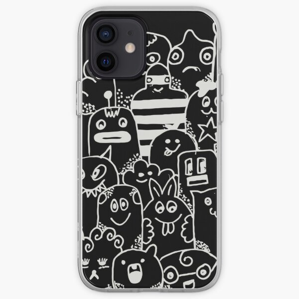 Black Doodle iPhone Soft Case