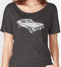 1969 Chevrolet Nova Yenko 427 Muscle Car Illustration Women's Relaxed Fit T-Shirt