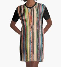 Vinyl Records Alternative Rock Graphic T-Shirt Dress