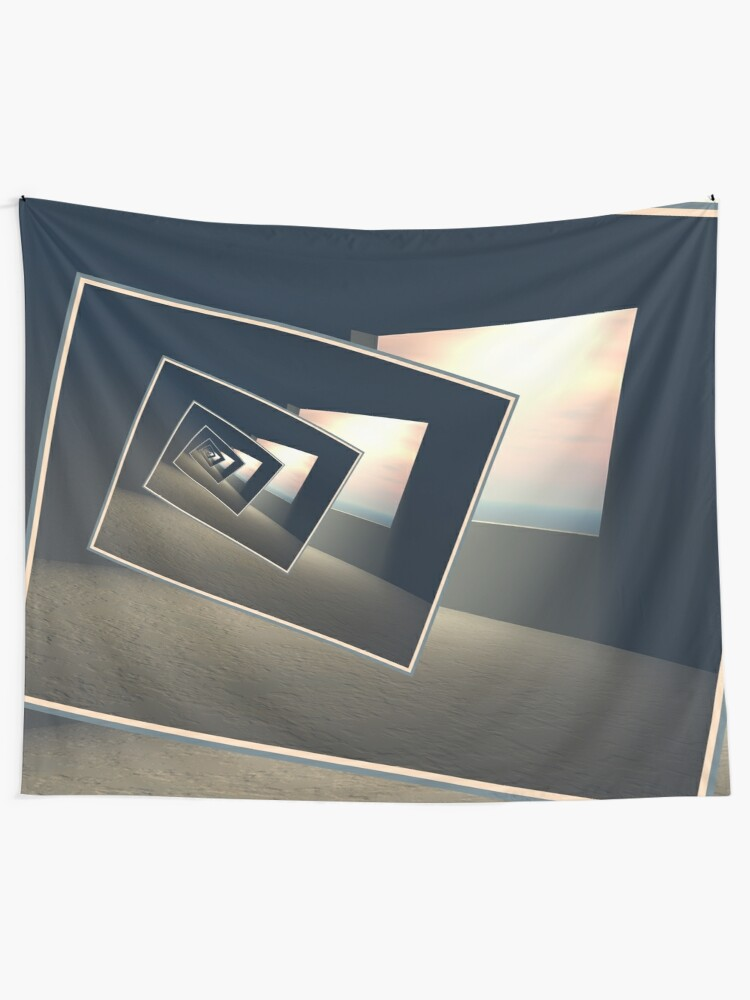Alternate view of Surreal Windows Tapestry