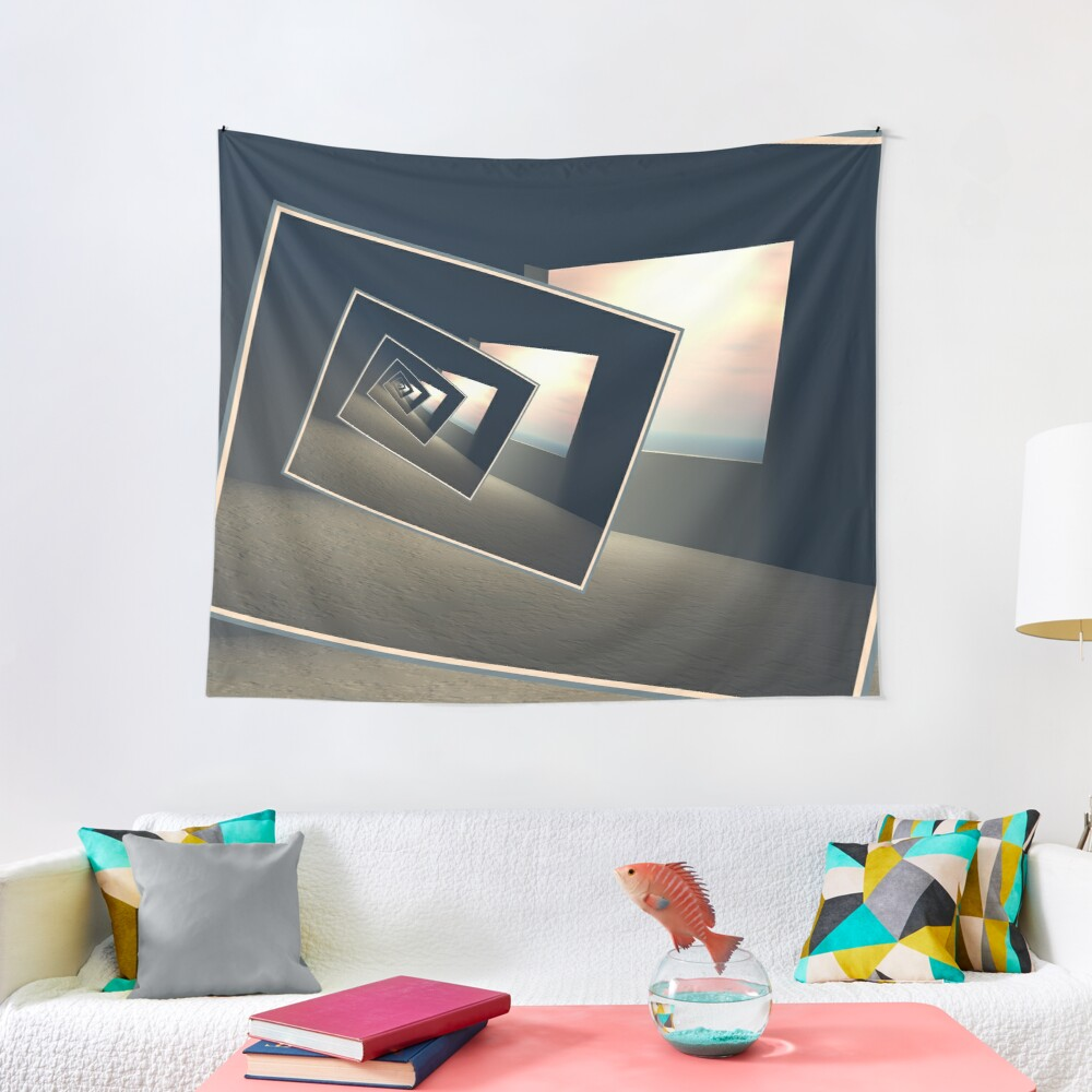 Surreal Windows Tapestry