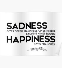 sadness, happiness - osho Poster
