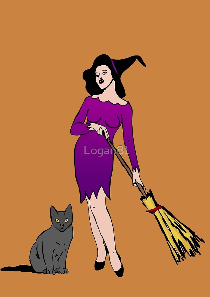 Witch with cat by Logan81