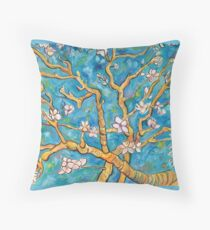 Impressions of Almonds in Bloom Throw Pillow