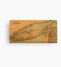 Map of Long Island 1888 Canvas Print