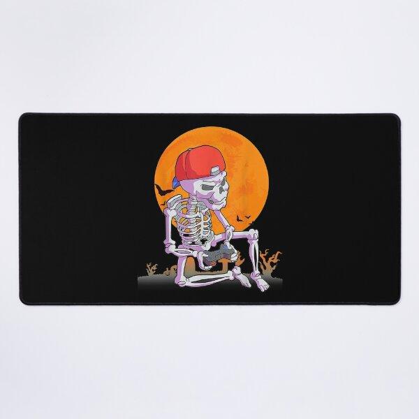 Halloween  Men Boys Gamer Gift Skeleton Outfit Boys  Desk Mat