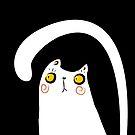 Dark Night White Cat by volkandalyan