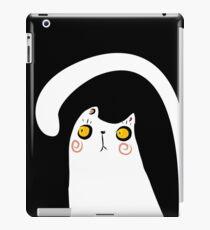 Dark Night White Cat iPad Case/Skin