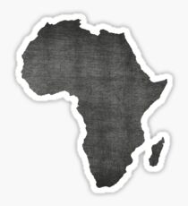 Africa vintage  map on grey background Sticker