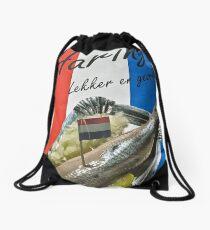 """Haring-  """"herring"""" poster- Amsterdam Drawstring Bag"""